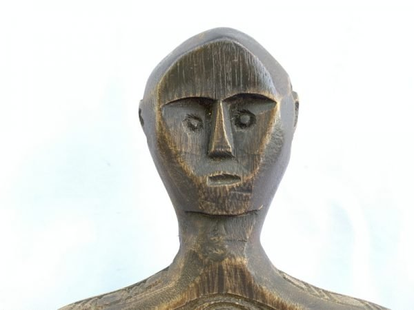KABIRU PANEL 380mm SUMBA INDONESIA Tribal Panel Cutting Board Statue Figure Wood Carving