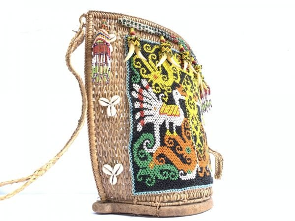 TRADITIONAL CHILD CARRIER 360x390mm Baby Bag Tribe Tribal Borneo Backpack Sling