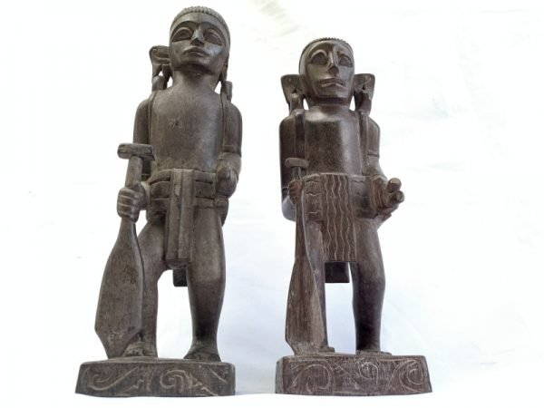 DAYAK ANCESTRAL WARRIOR Wood Art Authentic Antique Statue Sculpture Image Figure Home