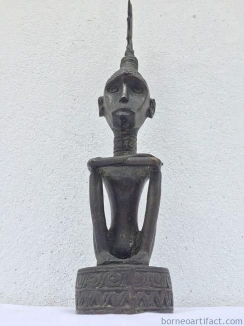 RAJATANIMBARmmBrassStatueOldAgedRoyalFigureSculptureBrassTribalNativeFigurine