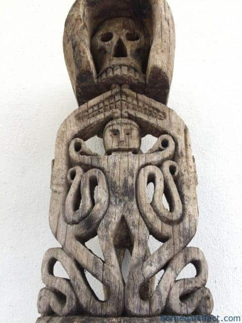 KORWARSKULLSTATUEmmMEGARAREOceanicSculptureTribalFigureIndonesia
