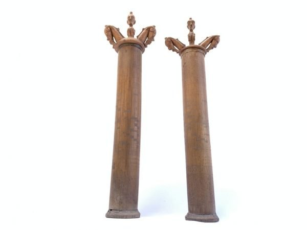 OLD BATAK (One Pair) MEDICINE CHAMBER Box Container Statue Figurine Indonesia
