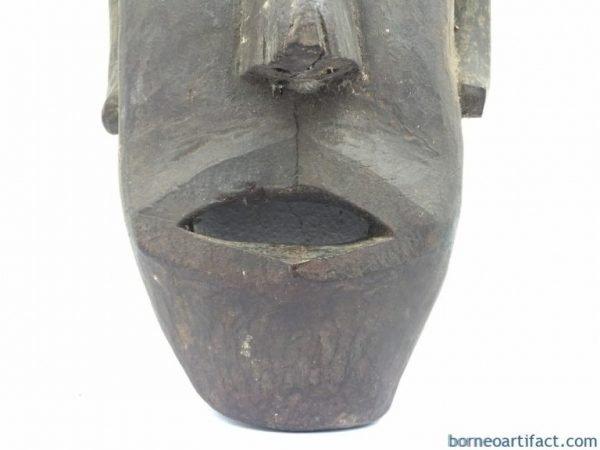 ANTIQUEIBAN(SeaDayakHeadhunter)mmxxxLMASKTribalMasqueFaceFacialStatueSculptureFigureFigurineSpiritualObjectHandmade