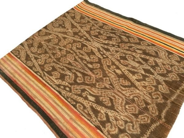 RARE FIREFLY and LEECH Pattern Bidang Dayak Iban Costume Sarong Lady Garment Skirt Dress #321