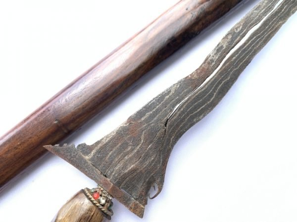 4.) Kris Knife Keris Pamor Adeq 3 Luk (BLACK MAGIC PROTECTION) Knife Kris Sword Dagger Art