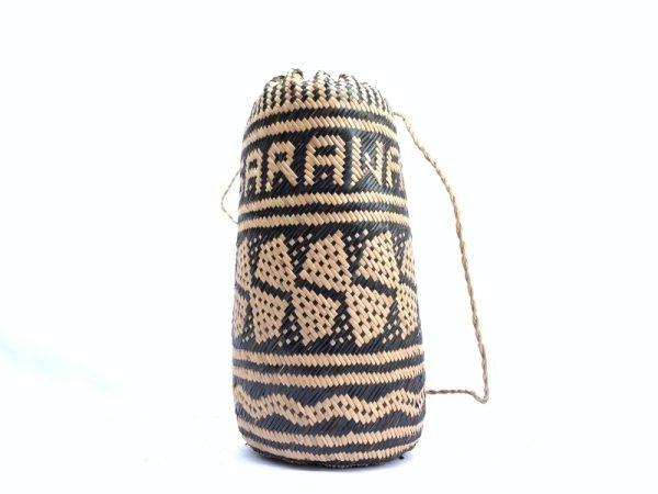 BRAND NEW Ajat / Native BASKET Woven backpack Sling Bag Camping Traditional #3