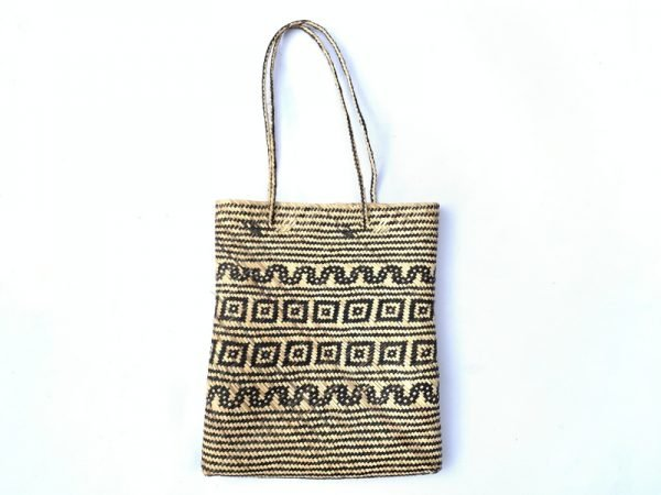 SHOULDER BAG 350x290mm Rectangular Tote Handbag Ajat traditional rattan bag Weaving Handmade Tribal #4