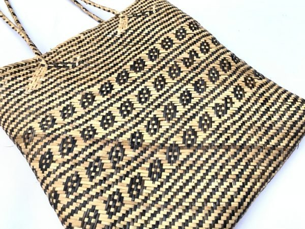 TRADITIONAL RATTAN BAG 310x300mm Rectangular Shoulder Tote Handbag Ajat Weaving Handmade Tribal #5