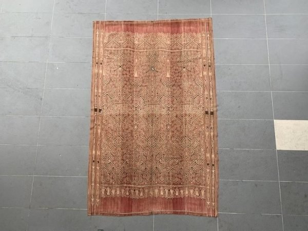 TRIBAL FABRIC (2050mm XXL) Pua Kumbu War Blanket Wall Deco Traditional Textile Painting Borneo
