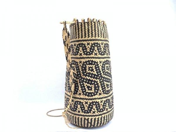 RATTAN AJAT 340mm (Butterfly Pattern) Handmade Bag Backpack Handbag Tribal Carrier #1