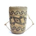 RATTAN AJAT 360mm (Hornbill Bird Pattern) Handmade Bag Backpack Handbag Tribal Carrier #4