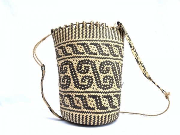 traditional bag AJAT 320mm (Creeper Vine Pattern) Handmade Backpack Handbag Tribal Carrier #5
