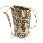 RATTAN AJAT 330mm (Bamboo Shoot Pattern) Handmade Bag Backpack Handbag Tribal Carrier #6