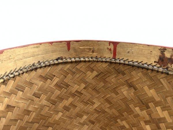 GORGEOUS LARGE 280mm Old Tribal Borneo Seed/ Wedding Basket Dayak Weaving Fiber Art