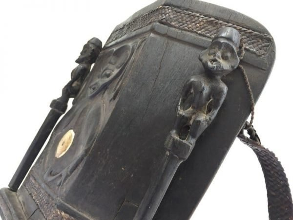 BAHAU BORNEO ARTEFACT Old Aristocratic Baby Carrier Native Tribe Child Backpack Asian Culture