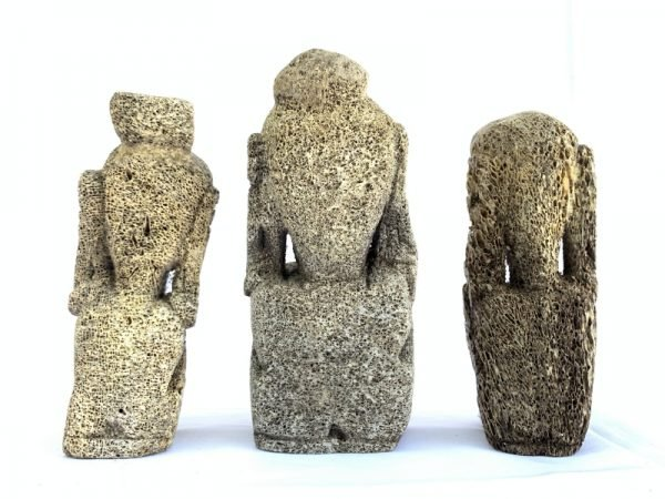 RAJA TANIMBAR (Set Of Three) STATUE Figure Figurine Sculpture Tribal Native Asia Ocean Art
