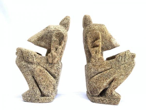 LETI INDONESIA (XXXL 1 Pair) SCULPTURE Statue Figure Figurine Tribal Art Asia Oceanic Artifact