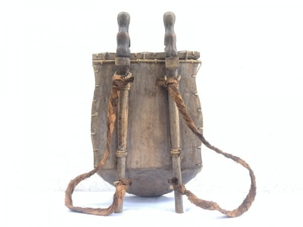GIANT DAYAK 510mm asian culture TRIBAL DAYAK CARRIER CONTAINER Traditional Backpack Statue