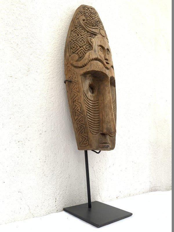 NIASMASK(mmOnStand)TRIBALFACIALIndonesiaSculptureFigureStatueAsiaAsianArtArtifact