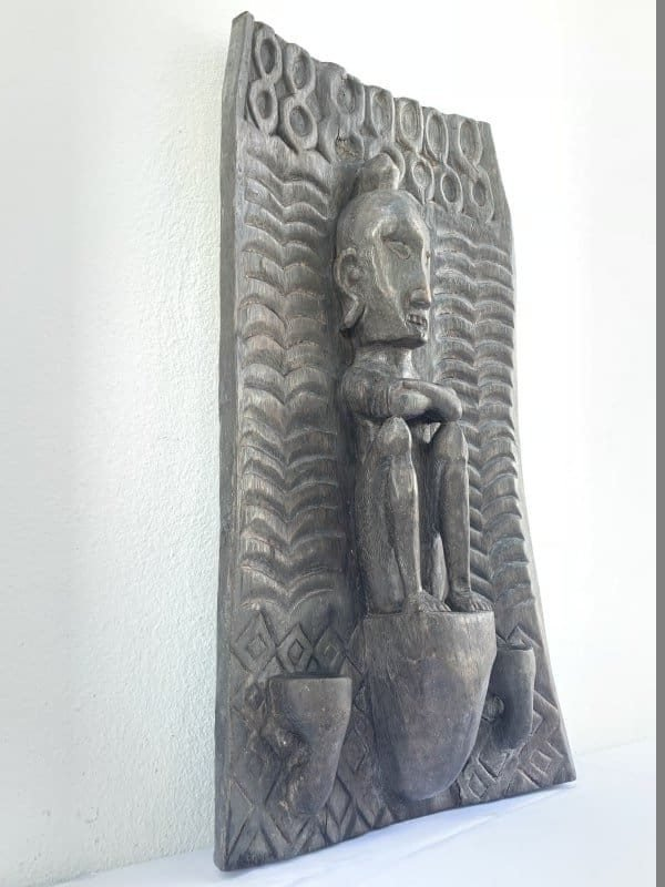 INDONESIANLETImmALTARPANELAncestralFigureStatueSculptureAsianArtCultureWallDeco