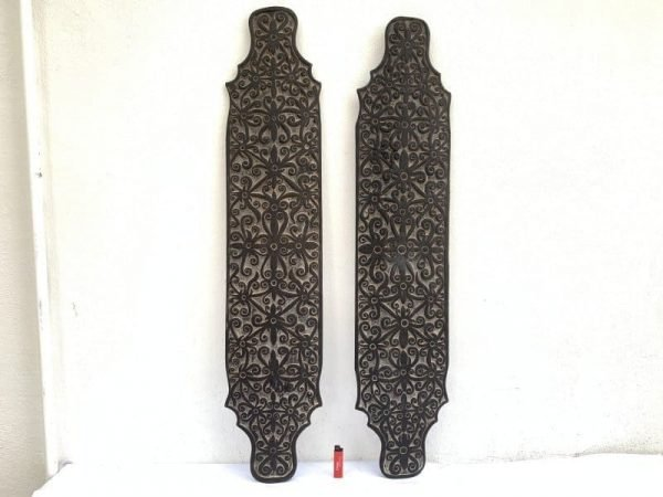 TRIBAL ARMOR (One Pair) WAR SHIELD Borneo Harvesting Rites Wood Carving Asia Home Deco