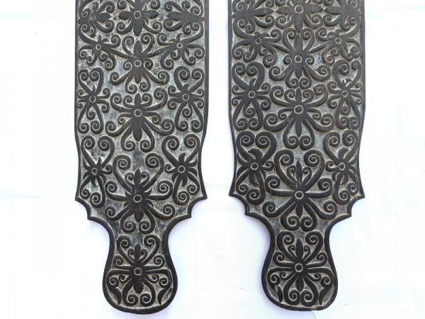 Spectacular borneo Artwork Tribal Shield War Armor (Home Wall Deco Wood Carving Asia)