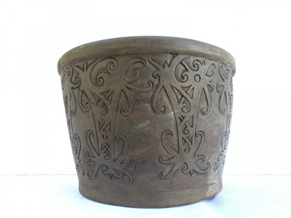 Tribal Handmade Bowl Hardwood Native Borneo Asia Asian Art Basin Interior Decor