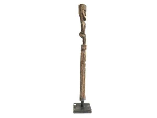 Dayak Bahau (One Pair) Human Effigy Ancestral Funeral Figure Figurine Statue Sculpture