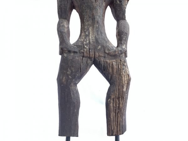 Borneo Funeral Guardian (815mm On Stand) Ironwood Statue Ancestral Figure Figurine Sculpture Asian