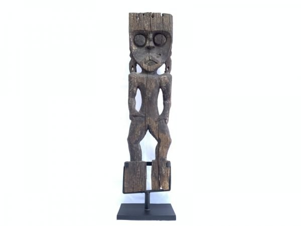 Museum Piece (770mm On Stand) Antique Funeral Outdoor Statue Effigy Hampatong Dayak Bahau Borneo