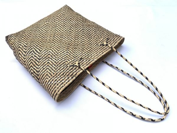 Traditional Rattan Tote Bag 320x310mm Rectangular Shoulder Handbag Ajat Weaving Handmade Tribal #7