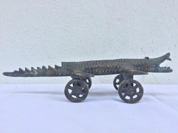 CROCODILE CANNON 330mm Animal LANTAKA Reptile Mini Miniature Heirloom Borneo
