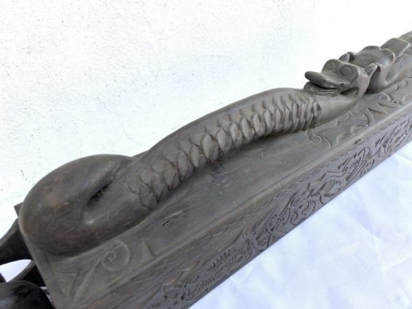 Aristocrat Tribal Container 970mm Giant Sword Box Jewelry Medicine Documents Keeper Borneo