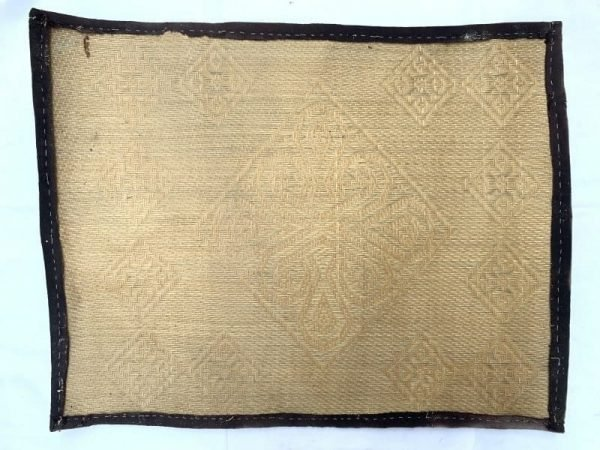 Dining Mat (740 x 540 mm) Old Rattan Panel Fiber Art Weaving Woven Painting Wall Deco
