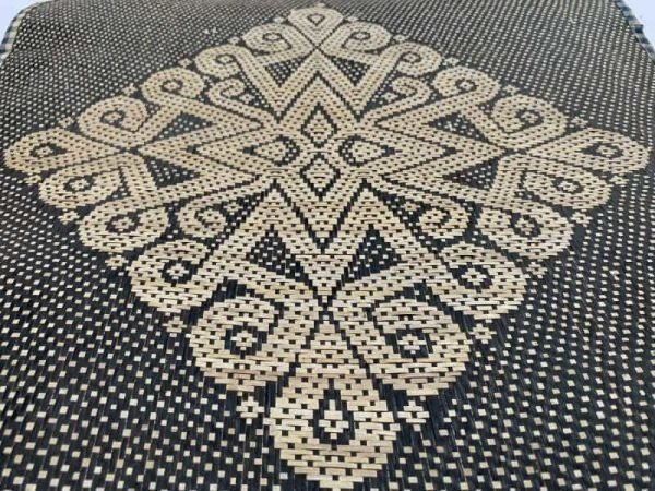 Rattan Placemat 550 x 490 mm Old Traditional Weaving Dining Table Mat Fiber Art