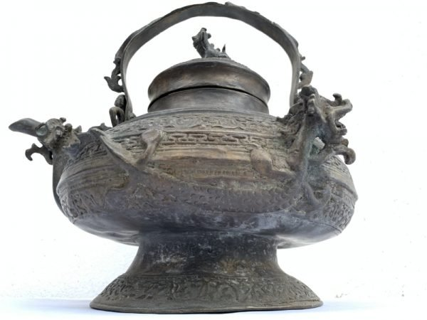 Kettle Teapot 12 lb Authentic Antique Brunei Heirloom Brass Bronze Teakettle Asia Wealth Status