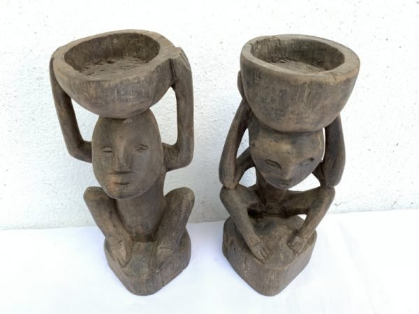 DAYAK EMBAWANG Candle Stand 220mm Statue Figure Sculpture Artifact Tribal Native Borneo