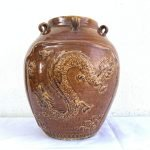 DRAGON JAR 330mm Beautiful Chinese Feng shui Vase Pot Porcelain Ceramic