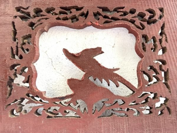 #6 China Art Panel 245mm Wood Wooden Wall Deco Sculpture Statue Painting Carving