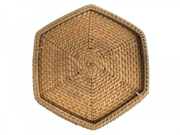 Wedding Tea Ceremony 285mm Rattan Chinese Basket Box Woven Weaving Fiber Art