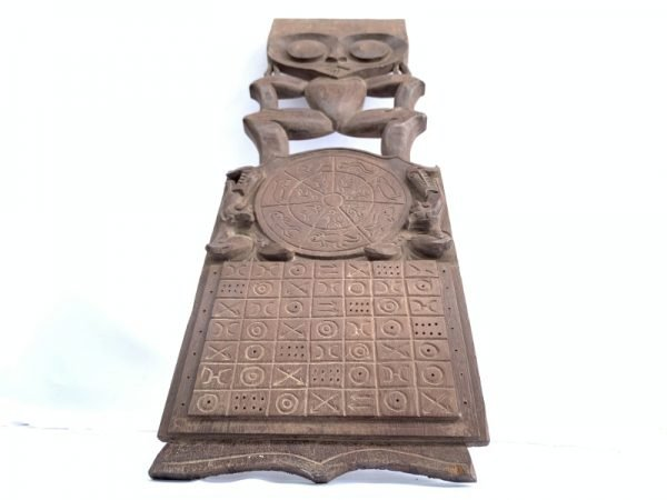 WOODEN CALENDAR 530mm Wall Hanging Deco Statue Figure Figurine Sculpture Dayak Borneo Asia