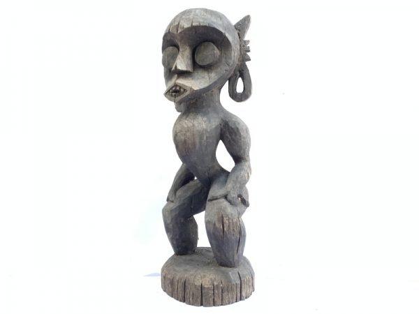 BORNEO FIGURINE 500mm Bahau Statue Figure Effigy Wood Sculpture Art Home and Garden