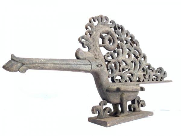 BIRD STATUE 530mm Majestic Rhino Hornbill Wood Sculpture Figure Figurine Animal