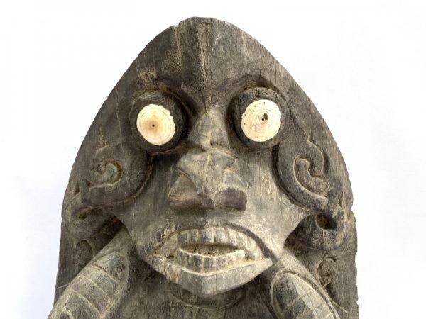 WOODEN ALTAR 590mm Rare Dayak Bahau Ironwood Tray Statue Figure Figurine Sculpture Worship