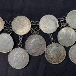 SILVER BELT 850mm( 47 pieces silver coin ) Antique Sterling Jewel Jewelry Borneo