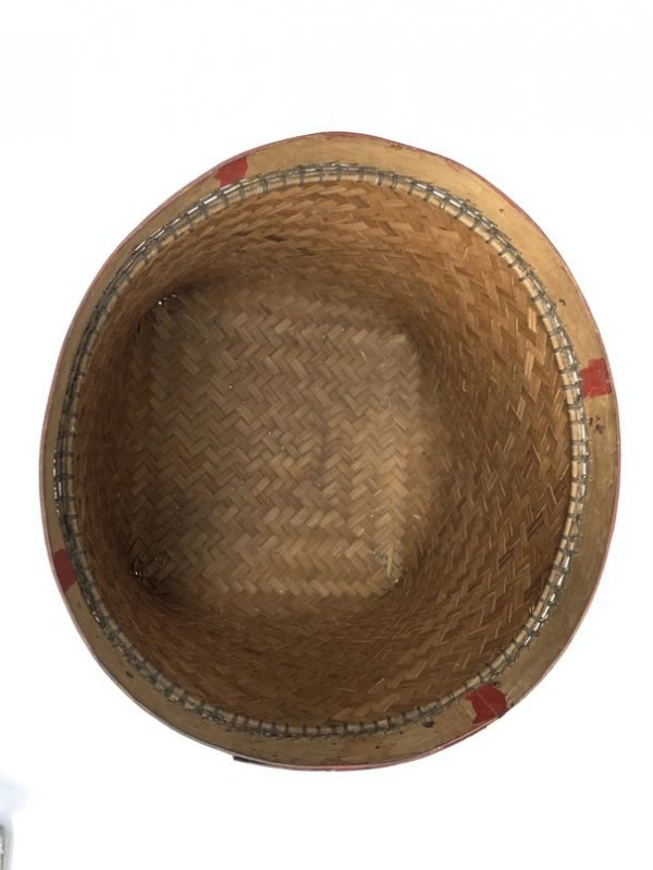 SEED BASKET 360mm MEGA-SIZE Old Weaving Woven Fiber Art Rattan Bowl Basketry Tribal Borneo
