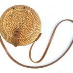 RATTAN PURSE 200mm Handmade Rattan Tote Sling Bag Traditional Weaving Fiber Art Handbag