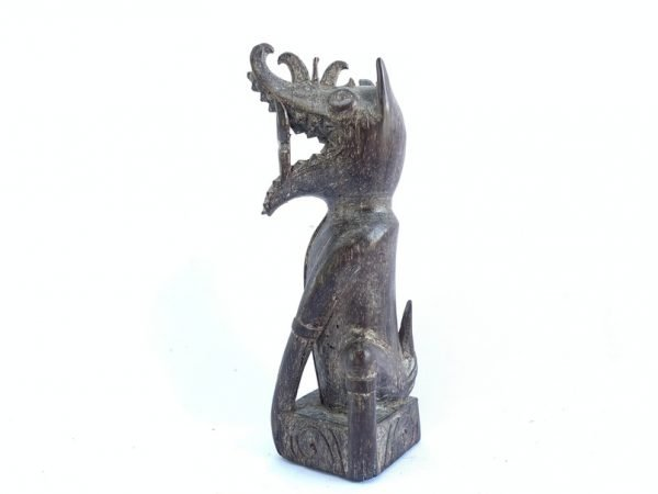 MYTHICAL CREATURE 180mm Borneo Statue Dragon & Dog Aso Animal Figure Figurine