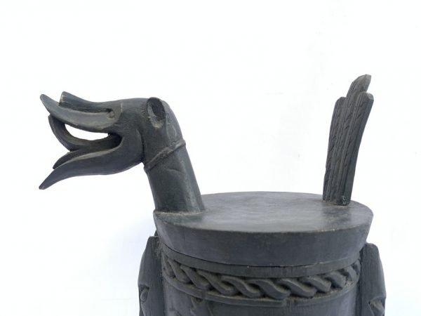 STORAGE CONTAINER 410mm Tribal Traditional Box Jewel Jewelry Keeper Hardwood Statue Figurine