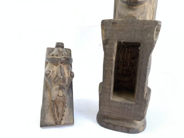 TRIBAL HIDDEN CHAMBER 410mm ARTIFACT Batak Jewelry Medicine Box Wood Carving Statue Figure Figurine